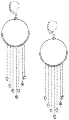 Maeve Platinum Born Platinum Hoop Tassel Earrings
