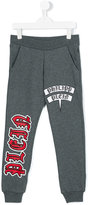 Philipp Plein speech bubble logo track pants - kids - Cotton - 4 yrs