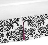 JoJo Designs Sweet Isabella Toddler Bed Skirt in Pink/Black/White