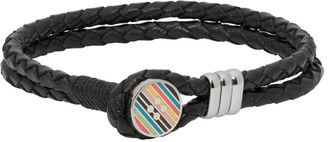Paul Smith Black Enamel Button Bracelet