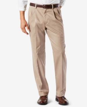 Dockers Easy Classic Pleated Fit Khaki Stretch Pants