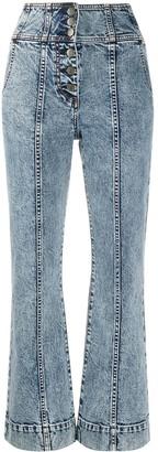 Ulla Johnson Ellis flared cropped jeans