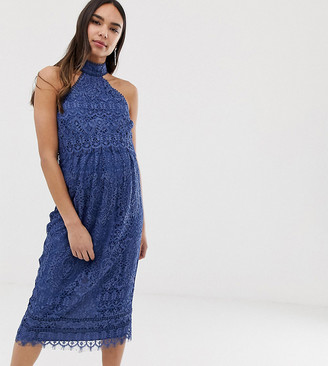 Asos DESIGN Maternity midi pencil dress with crop top in delicate lace