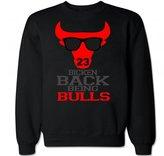 FTD Apparel Men's Bicken Back Being Bulls Crew Neck Sweater