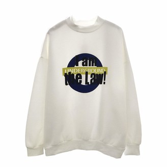 Hosd Winter plus velvet sweater pullover round neck letter coat cotton warm and loose Yellow