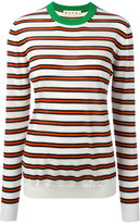 Marni striped crew neck jumper - women - Polyamide/Cashmere - 38