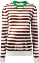Marni striped crew neck jumper