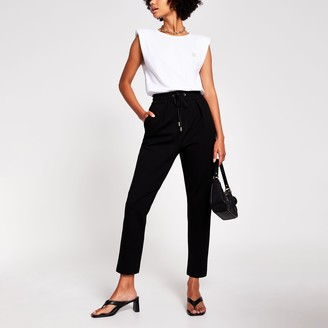 River Island Womens Black Tapered Trouser