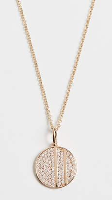 Sydney Evan 14k Small Pave Disc Necklace