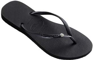Havaianas Embellished Slim Glamour Flip Flops