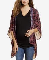 Jessica Simpson Maternity Printed Kimono Blouse