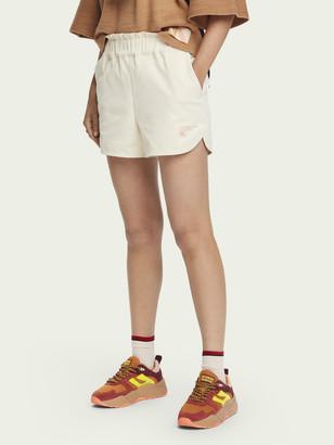 Scotch & Soda Medium-rise elastic waist technical shorts | Women