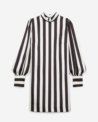 The Kooples Striped short long-sleeved dress
