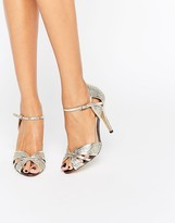 True Decadence Gold Heeled Sandals
