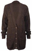 Purple Hanger Curvy PurpleHanger Women's Long Sleeves Button Knit Sweater Cardigan Top Plus Size 16-18