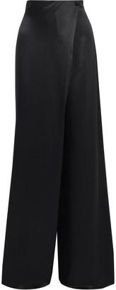 Cushnie Draped Silk-satin Wide-leg Pants
