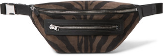 Tom Ford Zebra-Print Suede And Leather Belt Bag