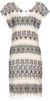 Velvet by Graham & Spencer Yandel geometric-embroidered cotton dress