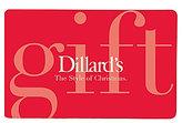 Dillard's The Style of Christmas Red Gift Card