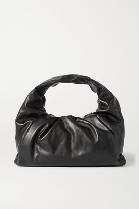 Bottega Veneta The Shoulder Pouch Leather Bag - Black