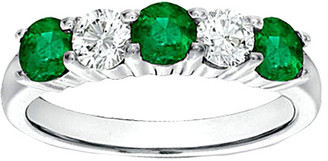 LeVian Suzy Diamonds Suzy 14K 1.05 Ct. Tw. Diamond & Emerald Ring