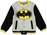 Children's Apparel Network Gray Batman Logo Knit Jacket - Toddler