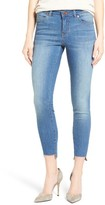 Petite Women's Caslon Stretch Step Hem Ankle Skinny Jeans