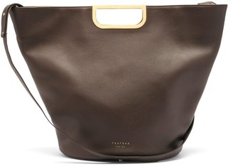 Tsatsas Anouk Leather Tote Bag - Dark Brown