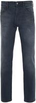 Boss Orange 24 Barcelona Distressed Blue Grey Modern Regular Fit Denim Jeans