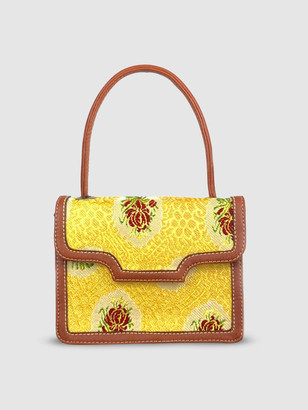 L2r The Label SC3 | Mini Tote Shoulder Bag in Tan and Yellow