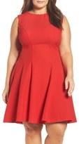 Gabby Skye Fit & Flare Dress (Plus Size)