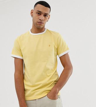 Farah Groves slim fit ringer t-shirt in yellow Exclusive at ASOS