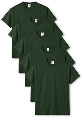 Fruit of the Loom Men's Original T. T-Shirt Pack of 5,X-Large