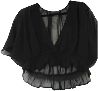 French Connection Black Silk Top for Women
