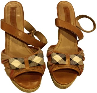Burberry Camel Leather Sandals
