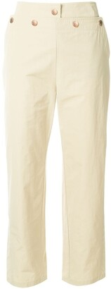 See by Chloe Cropped Sailor Trousers