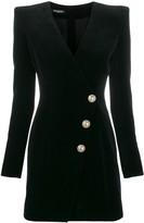 Balmain velvet fitted mini dress
