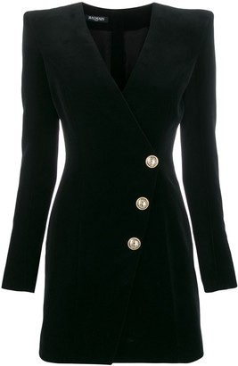 Balmain Velvet Fitted Mini Dress
