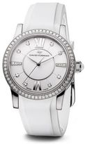 David Yurman Classic 34MM Rubber Swiss Quartz Watch with Diamonds