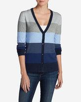 Eddie Bauer Women's Christine V-Neck Cardigan Sweater - Stripe