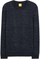 Boss Akolar Textured-knit Cotton Blend Jumper