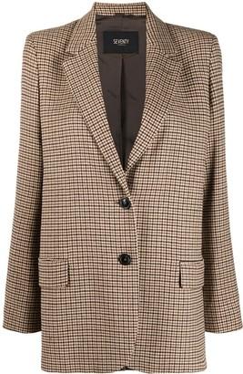 Seventy Checked Single-Breasted Blazer