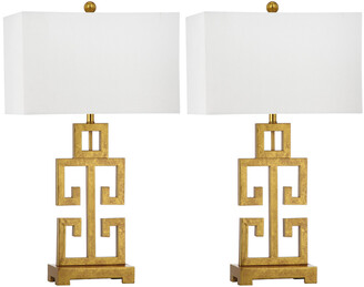 Safavieh Set Of Two 28.75In Greek Key Table Lamps