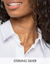 Asos Sterling Silver Chain Choker Necklace