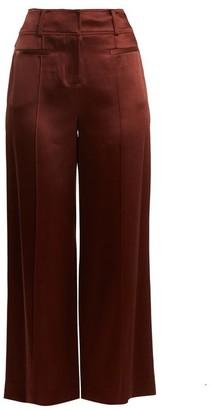 Diane von Furstenberg Wide-leg Pintucked Culottes - Womens - Brown