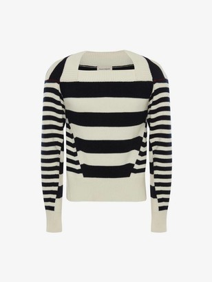 Alexander McQueen Boat Neck Stripe Sweater