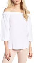 Soprano Women's Bubble Sleeve Off The Shoulder Top