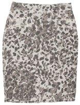 Current/Elliott Leopard Print Pencil Skirt