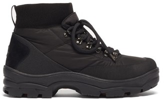 Moncler Clement Suede-panelled Padded Shell Boots - Black