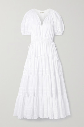 Ulla Johnson Claribel Cotton-poplin Midi Dress - White